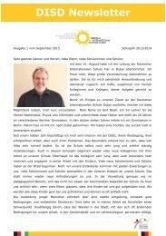 Newsletter 1. Ausgabe 2013/2014 - Deutsche Internationale Schule ...
