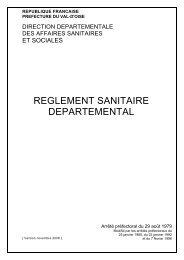 Le réglement sanitaire départemental du 95 - ARS Ile-de-France