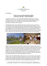Summer in the Alps - ideal for families. (PDF - Grand Hotel Kronenhof