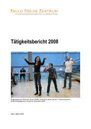 Tätigkeitsbericht 2008 - Paulo Freire Zentrum
