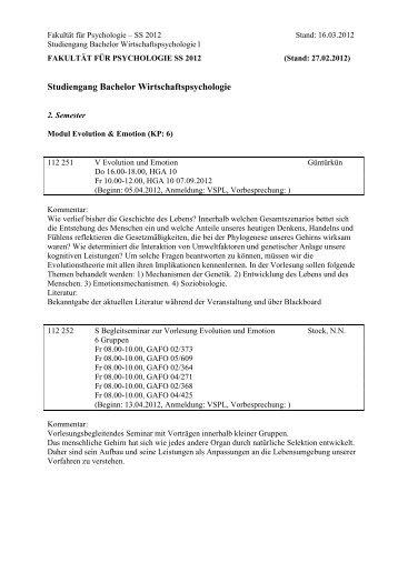 Studiengang Bachelor Wirtschaftspsychologie - Bio.psy.ruhr-uni ...