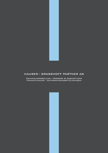 Broschüre HGP AG - Grasshoff.ch