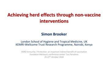 Achieving herd effects through non-vaccine ... - GLOBE Network
