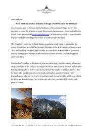 Pontresina in Switzerland. (PDF 219 KB) - Grand Hotel Kronenhof