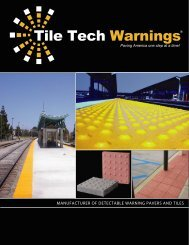 Tile Tech Warnings - Detectable Warning & ADA Truncated Dome ...