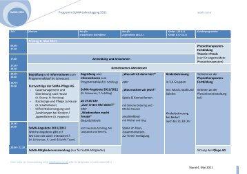 Programmentwurf SoMA-Jahrestagung2011 - SoMA eV