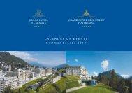 Calendar of events summer season 2012 - Kulm Hotel