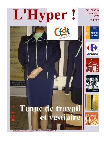 Tenue de travail et vestiaire - CFDT Carrefour