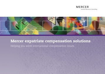Mercer expatriate compensation solutions - iMercer.com