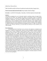 TITLE: Sustainable sanitation technique for postharvest quality and ...