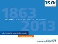 Volksbank Kirchheim-Nürtingen eG: 150 Jahre – Der Mensch im ...