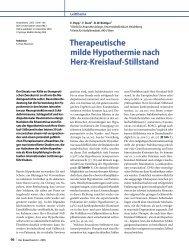 Therapeutische milde Hypothermie nach Herz-Kreislauf-Stillstand - 02.