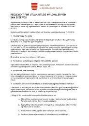 Reglement for utleie av lokaler - Aust-Agder fylkeskommune