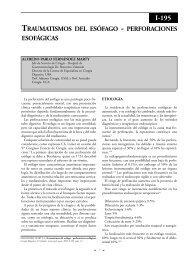 Traumatismos del esófago. Perforaciones esofágicas. - sacd.org.ar