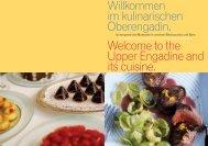 Kulinarikangebot Hotels und Bergbahnen Sommer