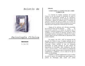 Boletín de Psicología Clínica - UNAM