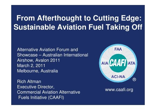 From Afterthought To Cutting Edge Sustainable Aviation Fuel