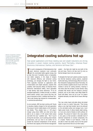 Integrated cooling solutions hot up - Aavid