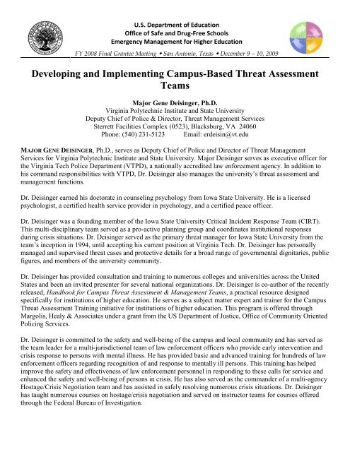 Developing and Implementing Campus-Based Threat Assessment ...