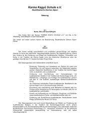 Zur Satzung des Karma Kagyü Schule e.V. Buddhistische Zentren ...
