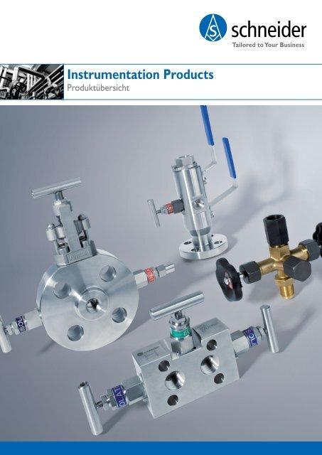 Produktübersicht - Armaturen für die Mess- und Regeltechnik