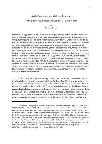 Israels Demokratie und die Menschenrechte - Netzwerk Schweiz für ...