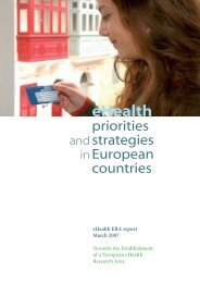eHealth Priorities and Strategies in European Countries - ESKI