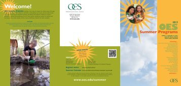 2013 OES Summer Programs - Oregon Episcopal School