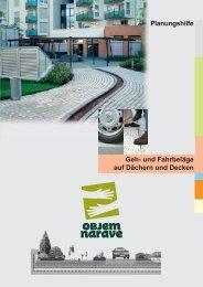 Planungshilfe Geh- und Fahrbeläge auf Dächern ... - Objem narave