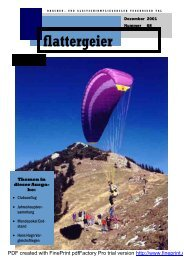 Dezember 2001 - Drachen und Gleitschirmclub Tegernsee