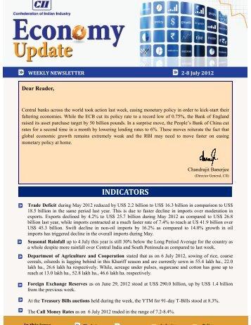 Economy Update 2-8 July 2012 - CII