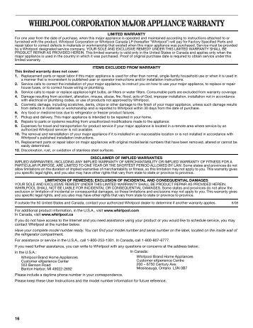 Advertencia Whirlpool Corporation