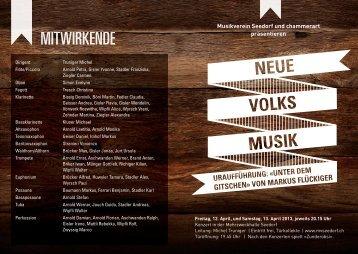 Programm 2013 - Musikverein Seedorf