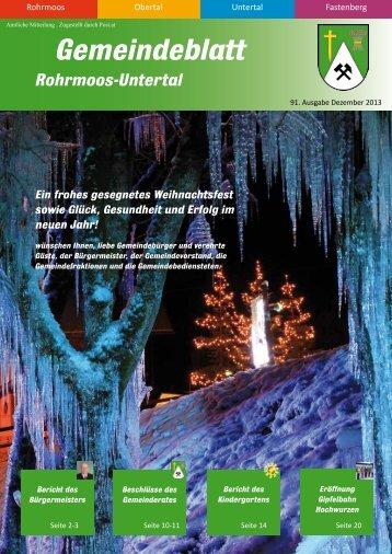 Ausgabe 4/2013 - Gemeinde Rohrmoos-Untertal