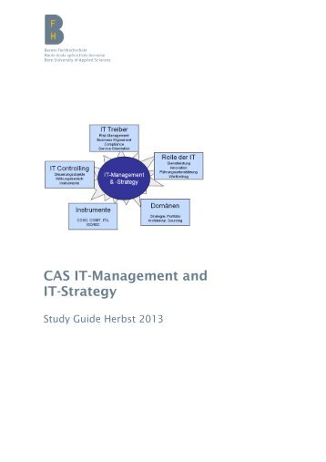 Studyguide CAS ITMS - Berner Fachhochschule Technik und ...