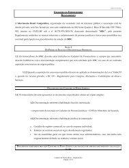 CADASTRO DE FORNECEDORES - Movimento Brasil Competitivo