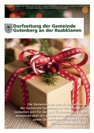 Ausgabe 04/2013 - Gemeinde Gutenberg an der Raabklamm