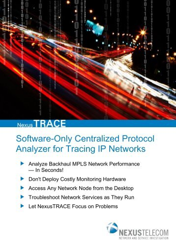 Brochure NexusTRACE - All Software Protocol Analyzer - EN4TEL