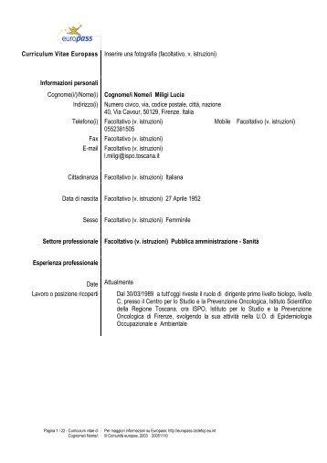 Miligi Lucia - Centro per lo Studio e la Prevenzione Oncologica ...