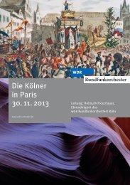 Die Kölner in Paris 30. 11. 2013 - WDR