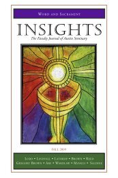 insights fall 03 - Austin Presbyterian Theological Seminary