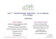 Axe 7 - BioSciences Gerland - Lyon Sud