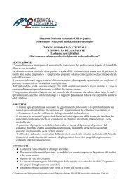 1 Direzione Sanitaria Aziendale- Ufficio Qualità Dipartimento ...