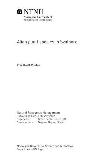 Alien plant species in Svalbard - Sysselmannen