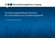 Aus- und Weiterbildungprogramm - Versicherungsforen Leipzig