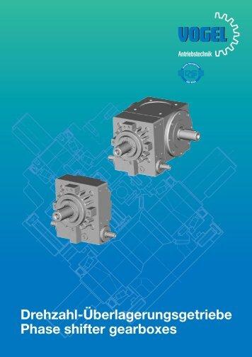 Drehzahl-Überlagerungsgetriebe Phase shifter gearboxes