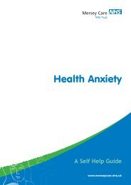 Health Anxiety - Mersey Care NHS Trust