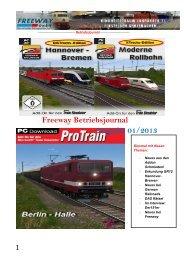 Freeway Betriebsjournal Ausgabe 01/2013 - Freeway GmbH