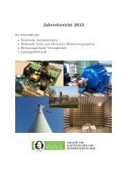 Jahresbericht 2013 - Institut für Elektrische Energiesysteme - Otto ...