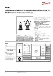 Térfogatáram-korlátozóval egybeépített (kompakt) szelep (PN 25)